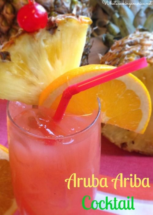 Aruba Ariba Cocktail Recipe | whatscookingamerica.net | #aruba #ariba #cocktail #rum