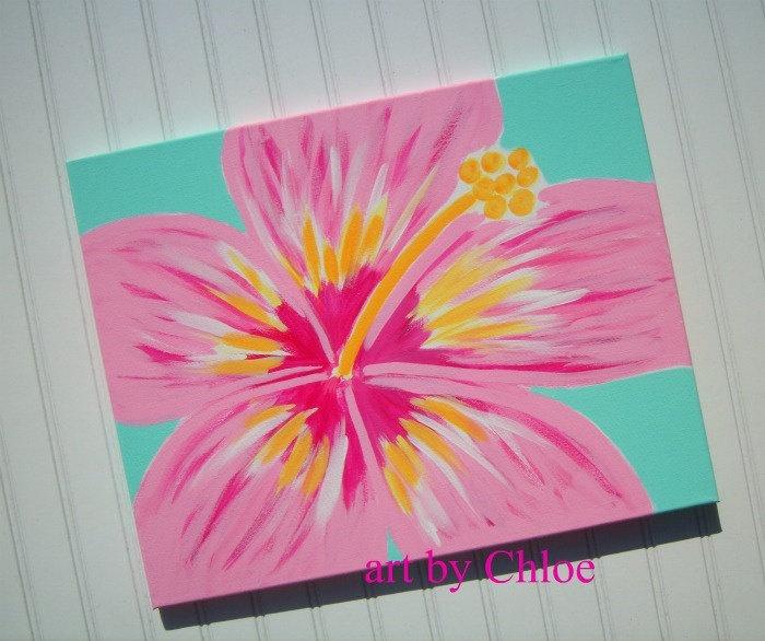 Hawaiian Hibiscus Flower love Pink and Blue!!!