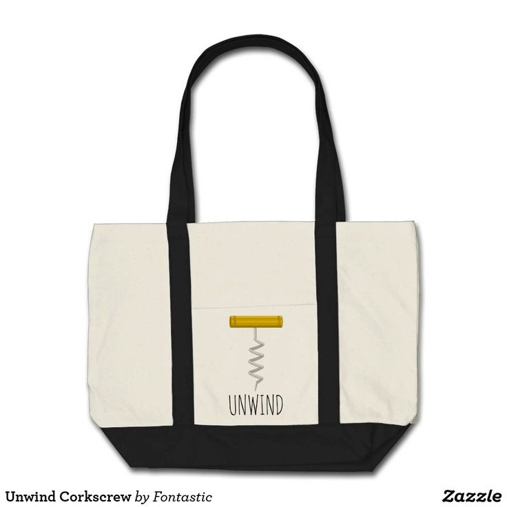 Unwind Corkscrew Impulse Tote Bag