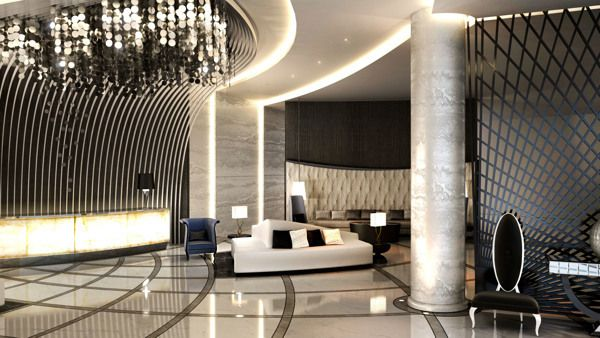 Main Lobby Interior Design on Behance