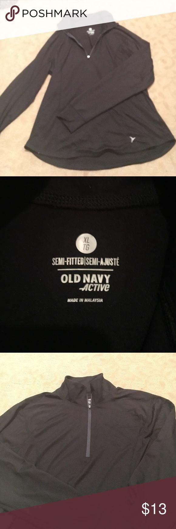 Old navy half zip pullover Old navy active half zip pullover semi fitted... worn once Old Navy Tops Sweatshirts & Hoodies