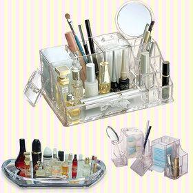 Gmarket - Transparent Cosmetic Makeup and Beauty Tools Organize...