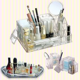 Gmarket - Transparent Cosmetic Makeup and Beauty Tools Organize...
