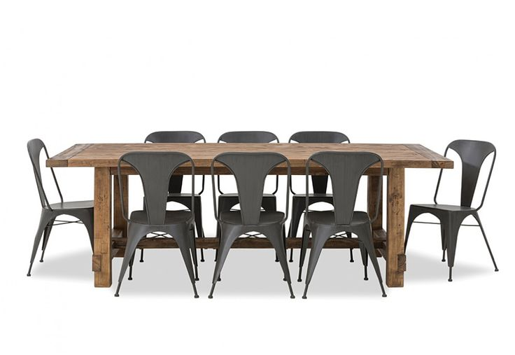 Industrial 9 Piece Dining Suite | Super A-Mart