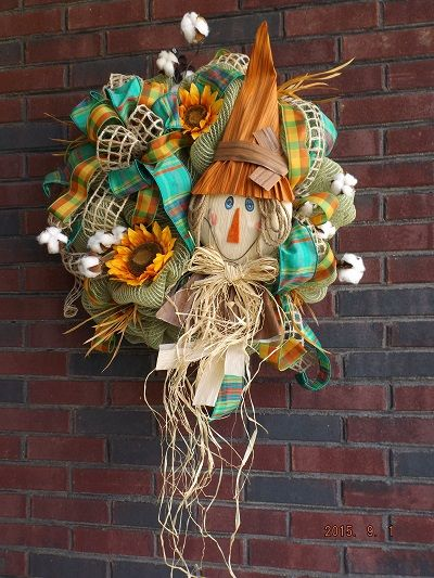We just had to share a picture of the Scarecrow Wreath from our customer, All About You Designs, located in Frankfort, KY! They incorporated our Mr. Scarecrow Wall Décor (9725475) beautifully. Thank you so much for sharing! @AllAboutYouKY