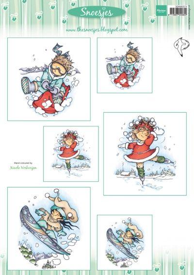 3dHm074 Snoesje & wintersport - Hetty Meeuwsen - Knipvellen - Hobbynu.nl