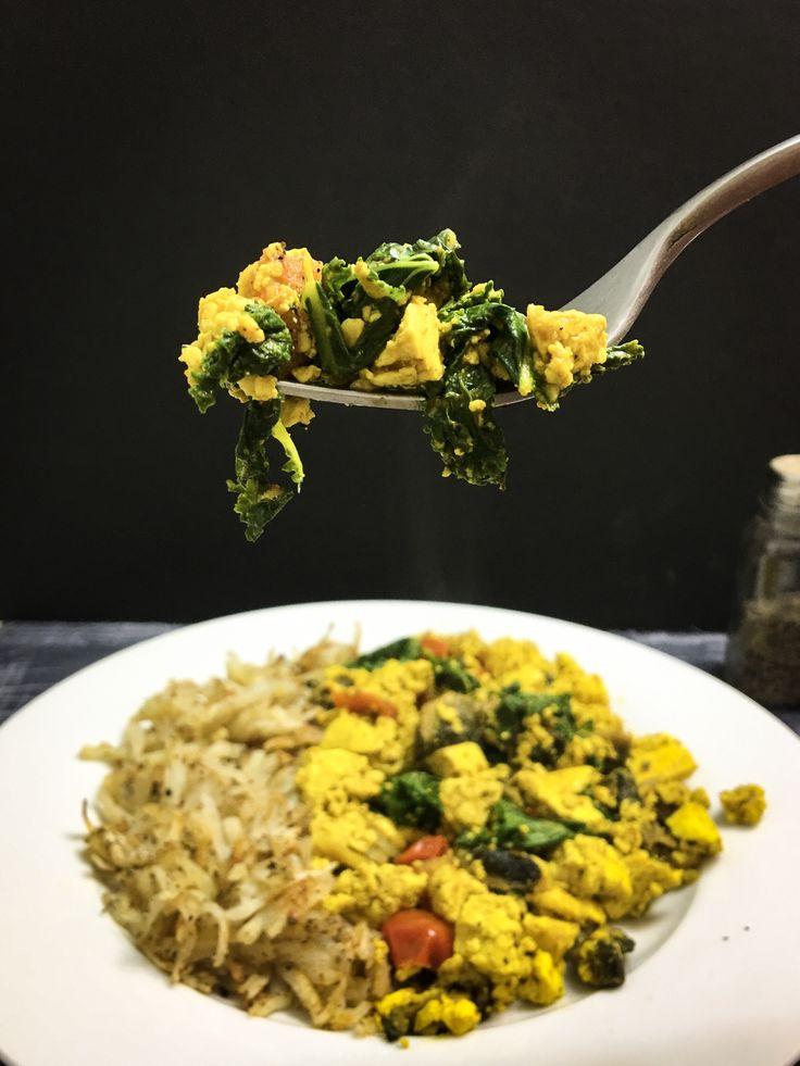 Breakfast Tofu Scramble #vegan #eggreplacement #breakfast #nutritious #veglife