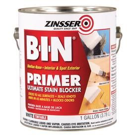 Zinsser Gallon Size Container Interior Oil Primer, for covering knots and tannin bleed in wood