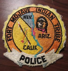 Vintage Fort Mojave Indian Tribe Police Patch Arizona