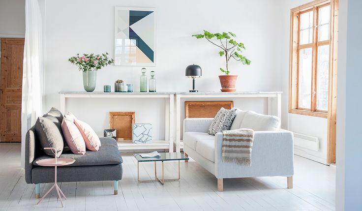 Bemz - IKEA-möbler nytt liv   Bemz Respect   Söderhamn 3 seater sofa Brinken Herringbone Black/Beige