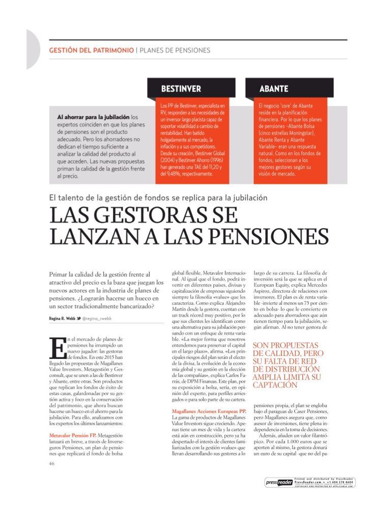 Las gestoras de fondos empiezan a profesionalizar la gestión de planes de pensiones