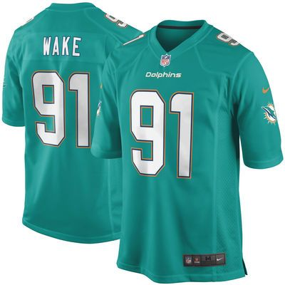 Youth Miami Dolphins Cameron Wake Nike Aqua Team Color Game Jersey