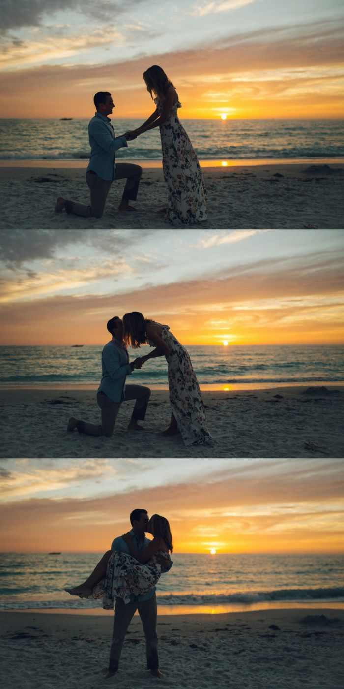 Currently swooning over this incredible beach proposal at sunset! The photos are absolutely stunning.