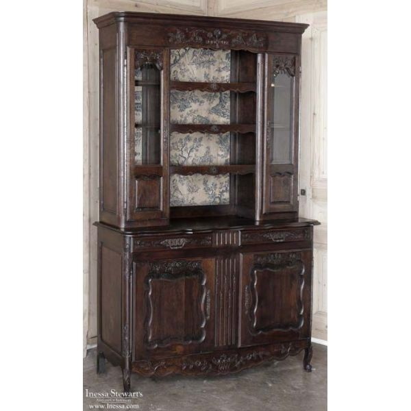 Antique Furniture | Antique Buffets and Sideboards | Vaisseliers | Antique French Normandie Vaisselier | www.inessa.com