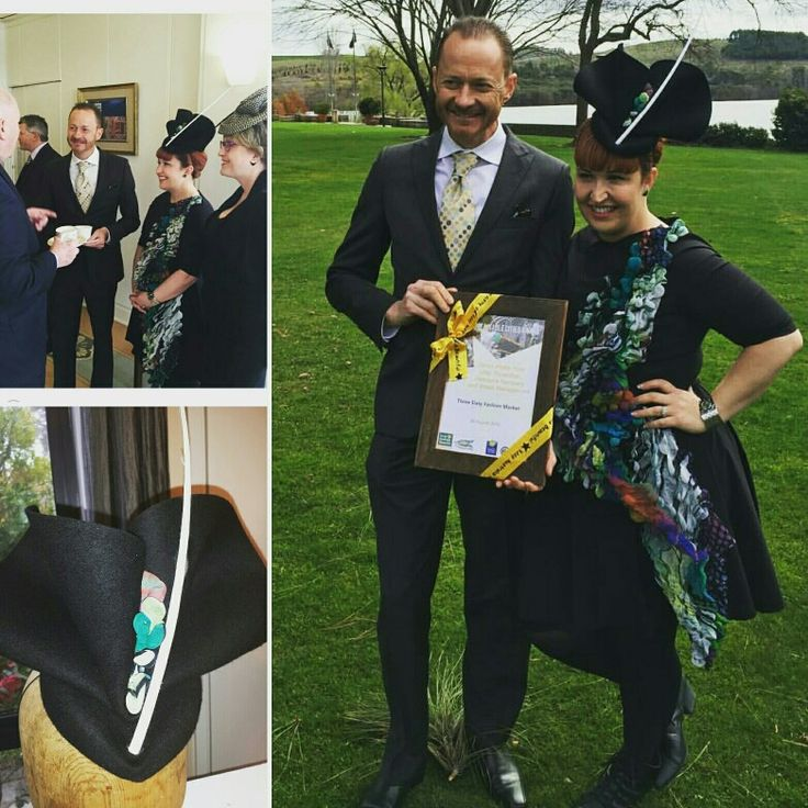 The beautiful Mel from the 369 Fashion wearing a Sovata creation to receive a sustainability award for 'Keeping Australia Beautiful' a the Governor Generals house yesterday.  #SOVATA #millinery #handmade #zerowaste #racingfashion #racingstyle #fascinator #designer #designermillinery #fashfest
