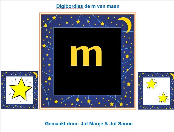 de m van maan | Juf Marije en Juf Sanne