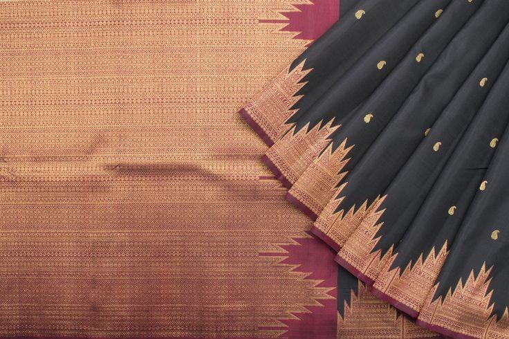 Kanakavalli Handwoven Kanjivaram Silk Sari 1015986 - Sari / All Saris - Parisera