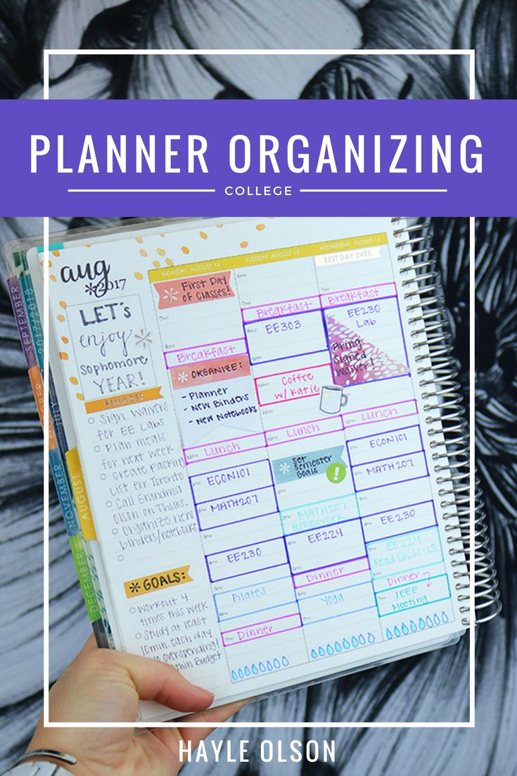 How To Organize Your Student Planner. Click through to see and read more, or pin to save for later. Find more helpful college tips on my blog, www.hayleolson.com