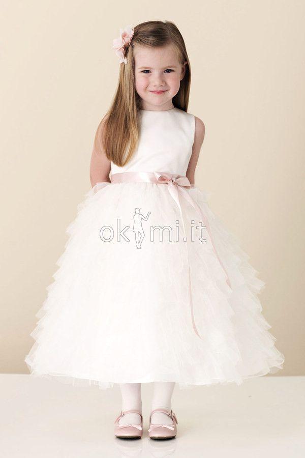 Abito da Cerimonia Bambini in Tulle Senza Maniche Principessa in Raso http://www.okmi.it/abito-da-cerimonia-bambini-in-tulle-senza-maniche-principessa-in-raso-p804.html