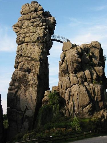 Externsteine, Detmold, North Rhine Westphalia, Germany