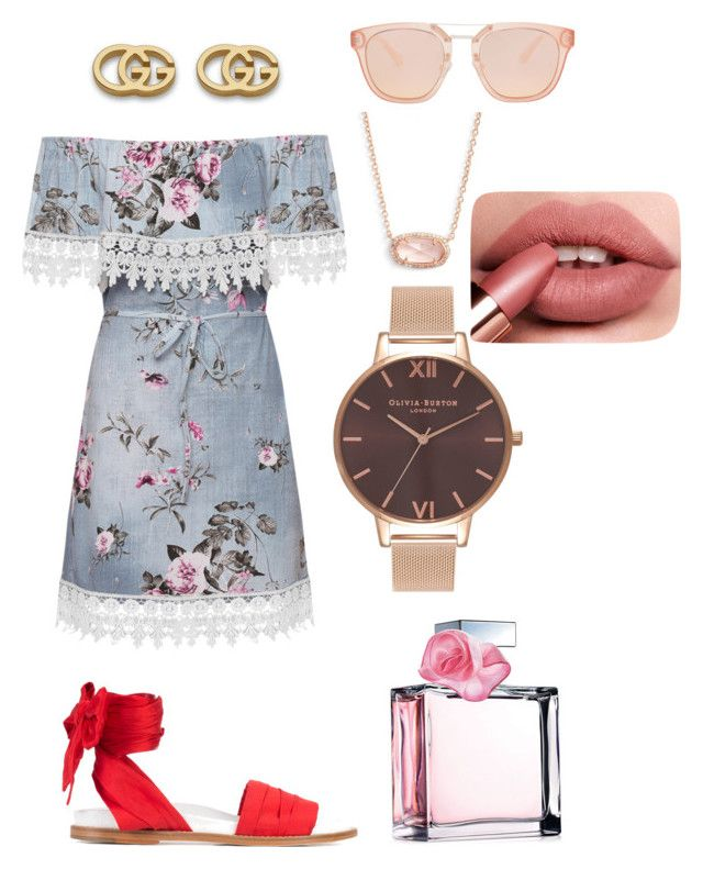Hot summer night by lestariani on Polyvore featuring polyvore, fashion, style, WearAll, Marques'Almeida, Olivia Burton, Kendra Scott, Gucci, Ralph Lauren and clothing