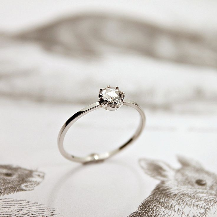 platinum 3.8mm rose-cut diamond ring.  this one is so pretty.  I like this jeweler