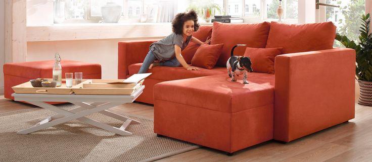 Home affaire Ecksofa »Pur« orange, Recamiere links, mit Bettfunktion, mit Bettkasten, FSC®-zertifiziert Jetzt bestellen unter: https://moebel.ladendirekt.de/wohnzimmer/sofas/ecksofas-eckcouches/?uid=4b0d73e7-d173-5283-8bfe-0095db57fa06&utm_source=pinterest&utm_medium=pin&utm_campaign=boards #sofas #ecksofa #wohnzimmer #ecksofaseckcouches