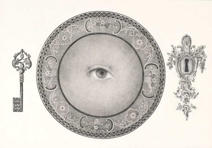 Eva Marathaki, In broad sunlight lay a white dish containing one peeled ball, Pencil on paper