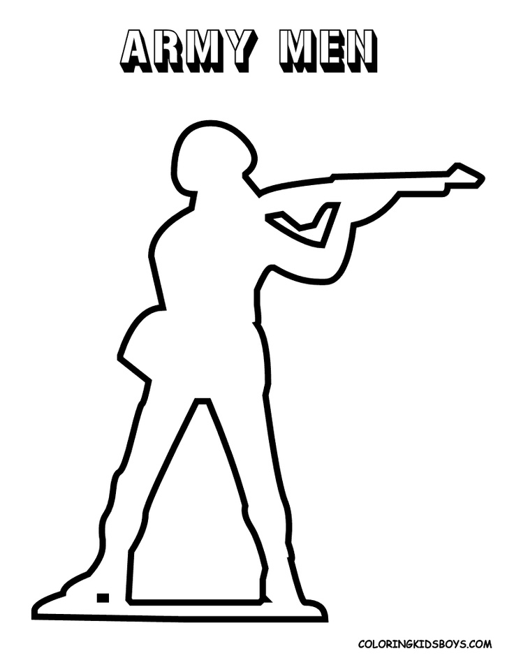 Army Man Soldier Coloring Pages Army Men Crafts Army Men Green Army Men