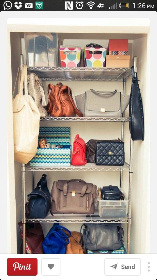 82 Best Bag Storage Images On Pinterest | Organization Ideas, Storage Ideas  And Closet Organization