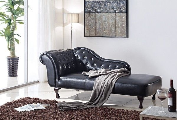 Capri divan i svart skinn