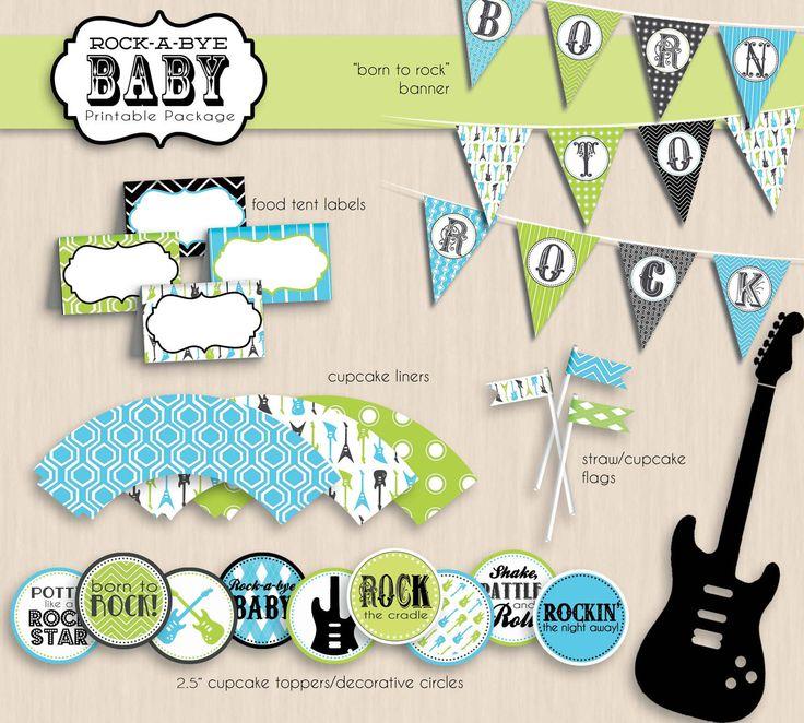 LITTLE ROCK STAR Baby Shower Printable Invitation. $17.00, via Etsy.