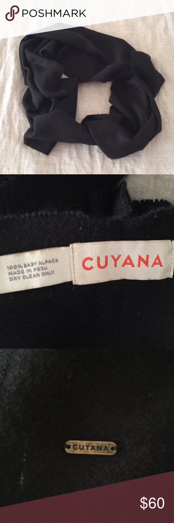 Cuyana baby alpaca scarf, black Cute black circle scarf! Haven't worn much so selling. No issues; great condition. Cuyana Accessories Scarves & Wraps
