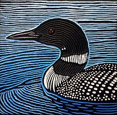 loon (Lisa Brawn) Tags: art birds woodcuts popart wildbirds woodblocks