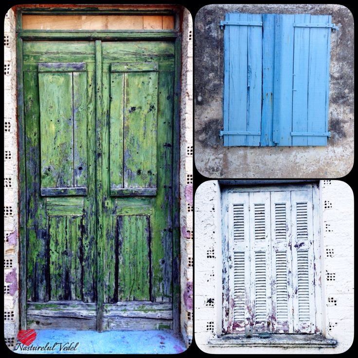 Colection of vintage doors&shutters from the Greek island, Zakynthos