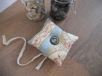 Pincushion made with beautiful fabric
