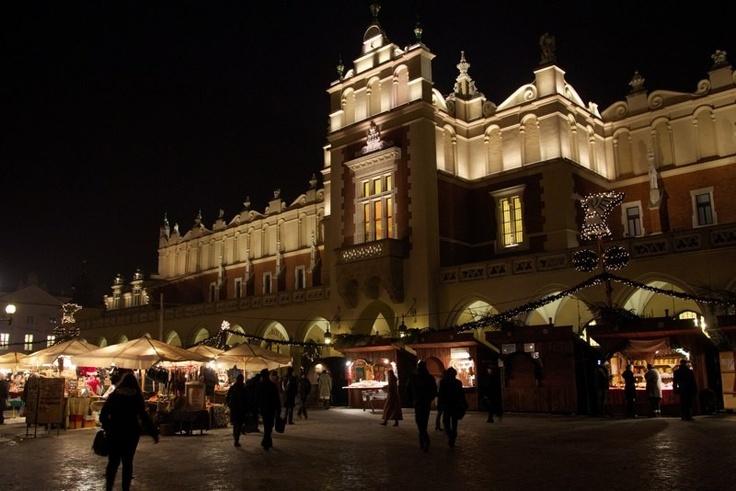 Sukiennice at night, Kraków, Poland
