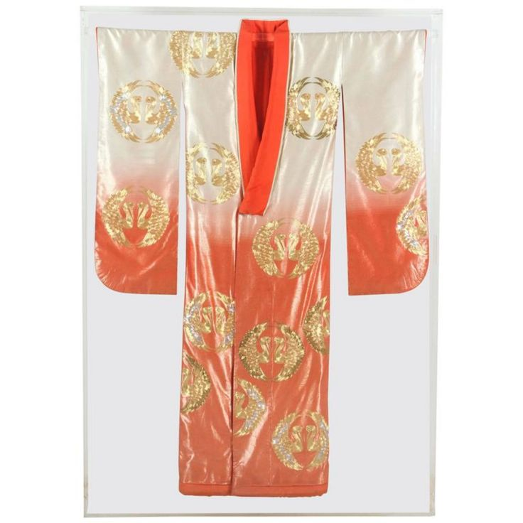 Buy Japanese Ceremonial Kimono Framed in a Lucite Box by Mosaik - Limited Edition designer Accessories from Dering Hall's collection of Traditional Decorative Objects.