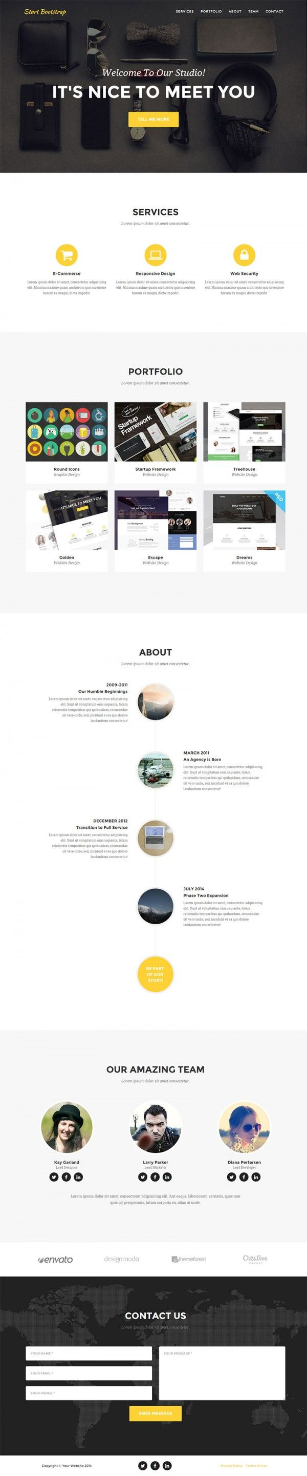 Onepage Html Responsive Template