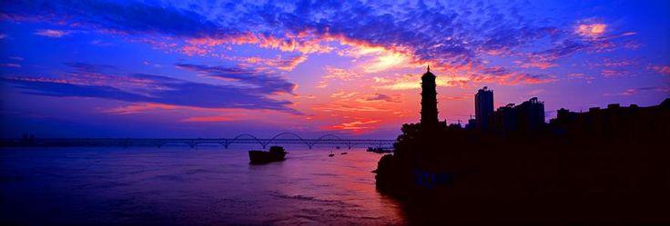 Sunrise on Yangtze River