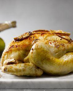 Geroosterde kip met citroen en maple syrup