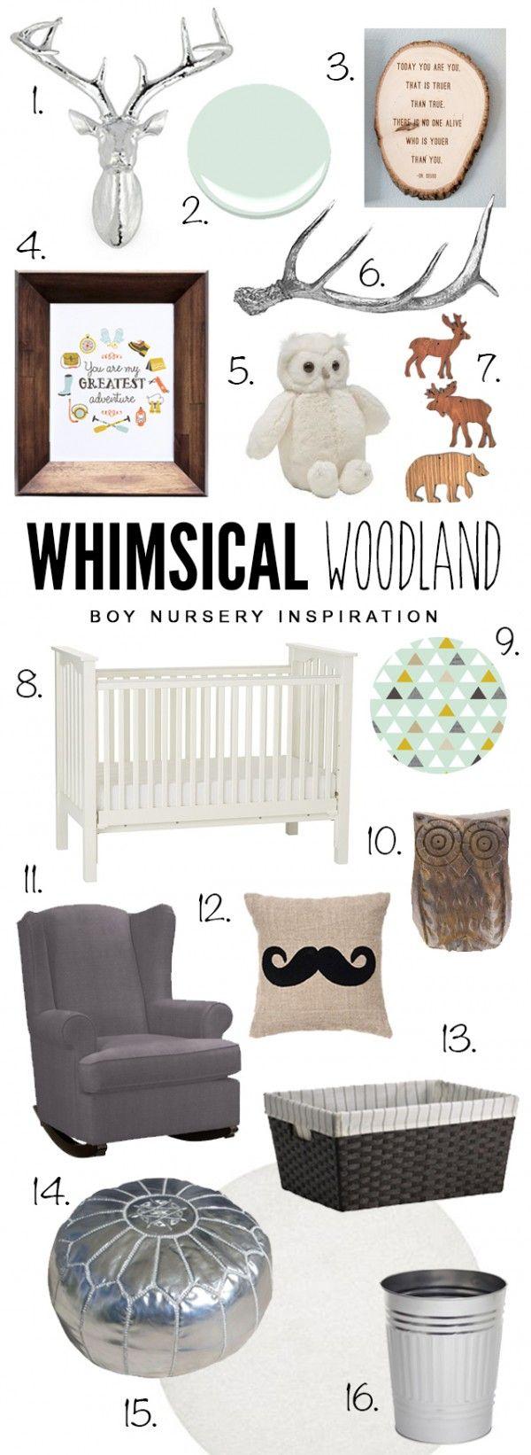 Whimsical Woodland Nursery Design   www.simplystewarts.com