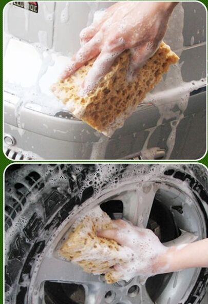 good quality Yellow Car Auto Washing Cleaning Sponge Block auto wash cleaner automobile accessory