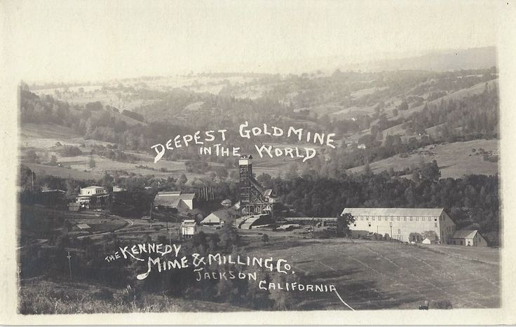 1920 Jackson, California - REAL PHOTO Mining - Amador County Gold Country