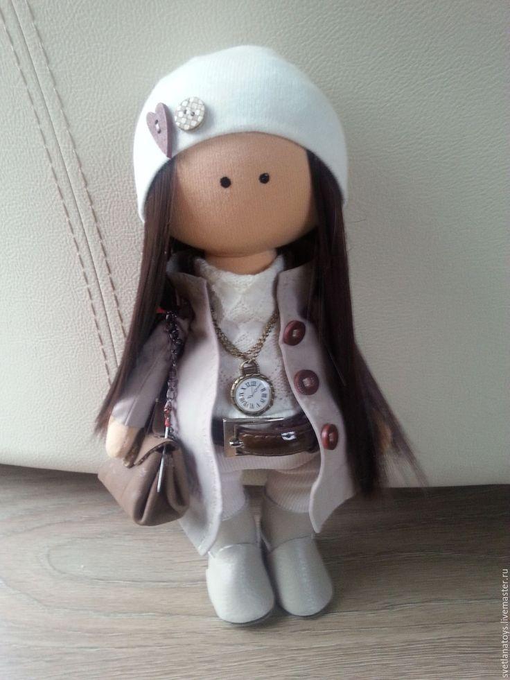 Купить интерьерная кукла - бежевый, интерьерная кукла, интерьерная игрушка, кукла ручной работы