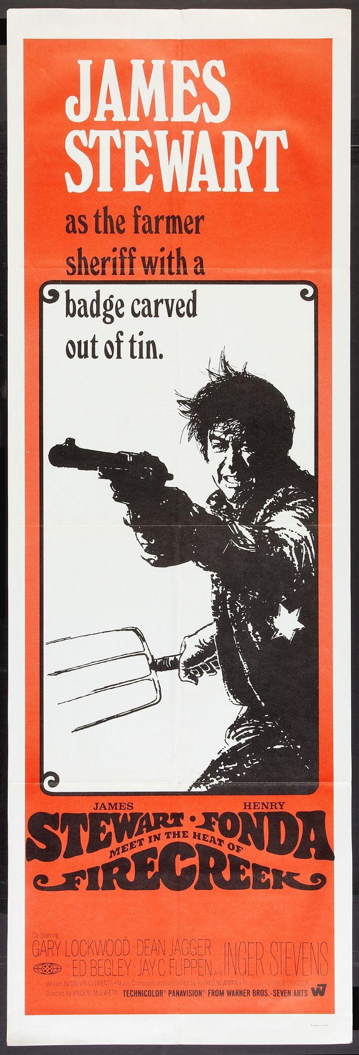 Firecreek (1968) Stars: James Stewart, Henry Fonda, Inger Stevens, Gary Lockwood, Dean Jagger, Ed Begley, Jack Elam ~ Director: Vincent McEveety