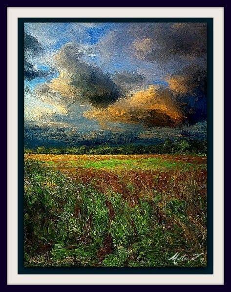 """Peinture : """"A travers champ"""" - Le site de Maître Zen"""