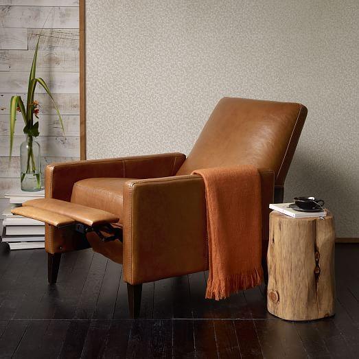 Sedgwick Leather Recliner west elm $1040 29 w x 36.5 d