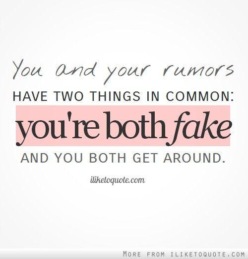Best 10+ Rumor quotes ideas on Pinterest | Petty people ...  Best 10+ Rumor ...