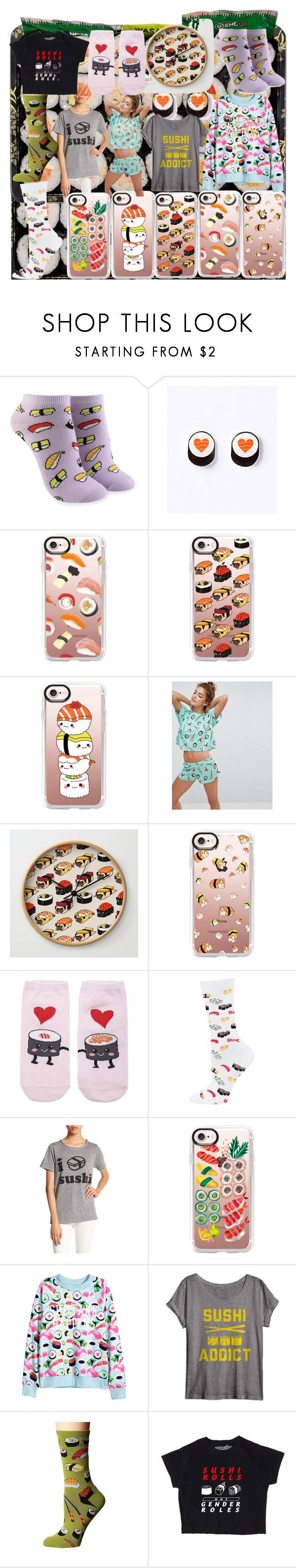 """""""Sushi collection"""" by andieok on Polyvore featuring Forever 21, Casetify, ASOS, HOT SOX, Chaser, Socksmith and sushi"""